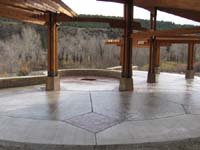 outdoor concrete slab